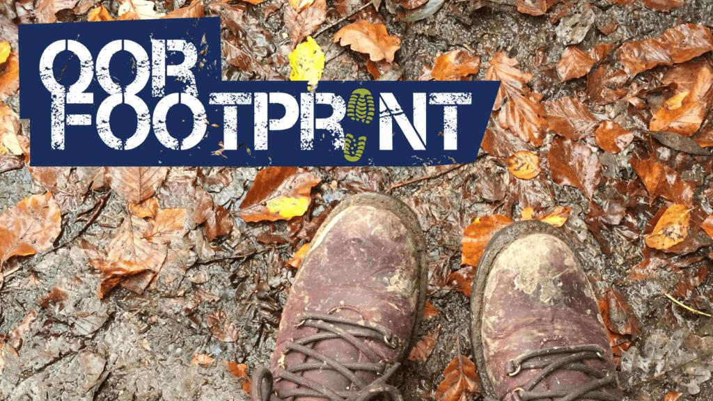 Oorfootprint muddy shoes