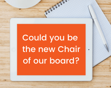 Could you be the new chair of our board?